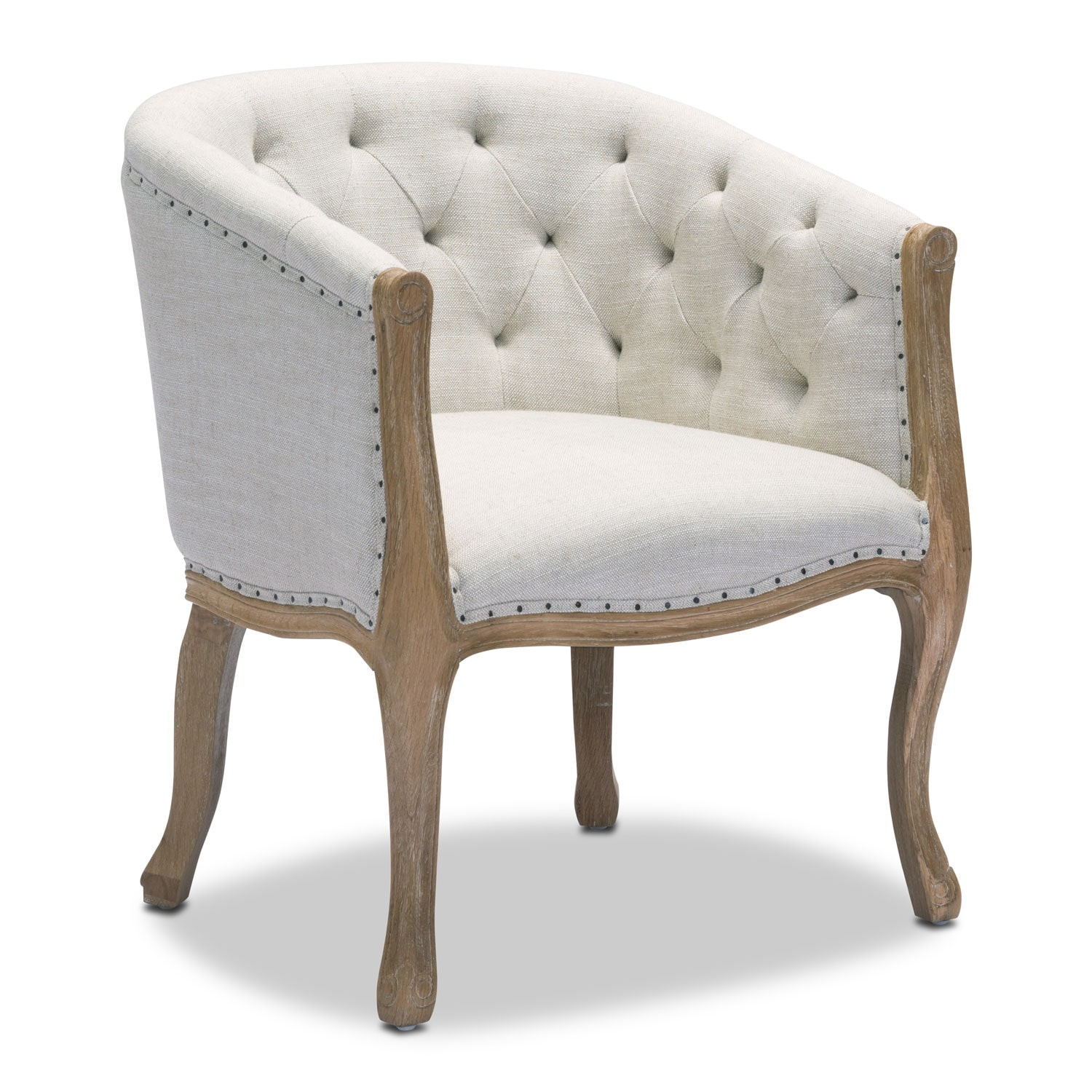 Accent and Occasional Furniture - Tess Accent Chair - Beige