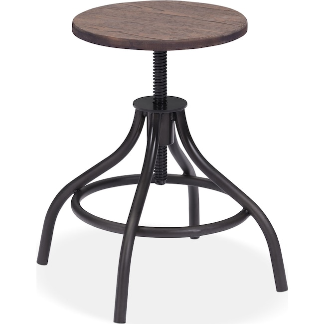 Home Office Furniture - Turner Adjustable Stool - Black