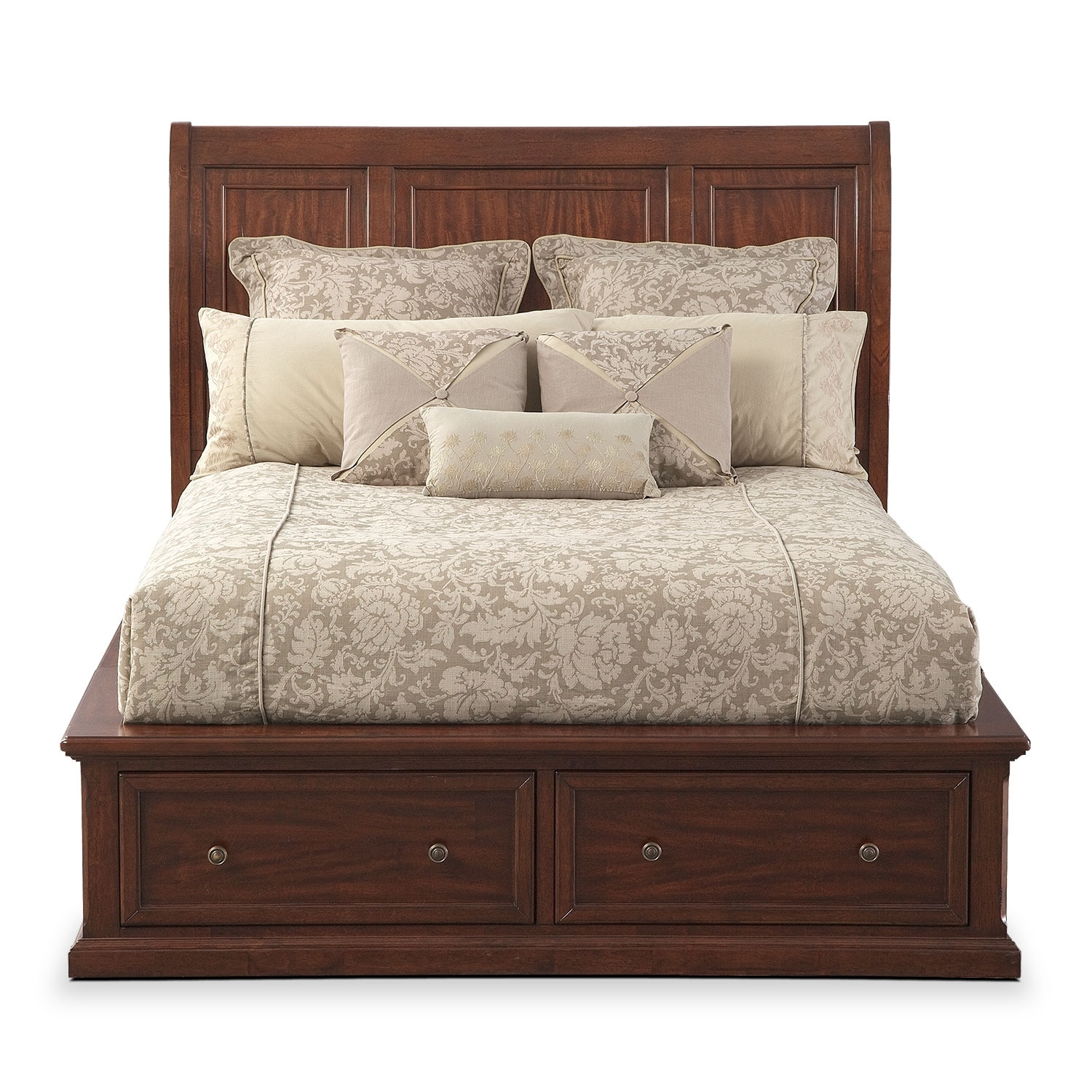 American Signature Furniture Com: Hanover Queen Storage Bed - Cherry