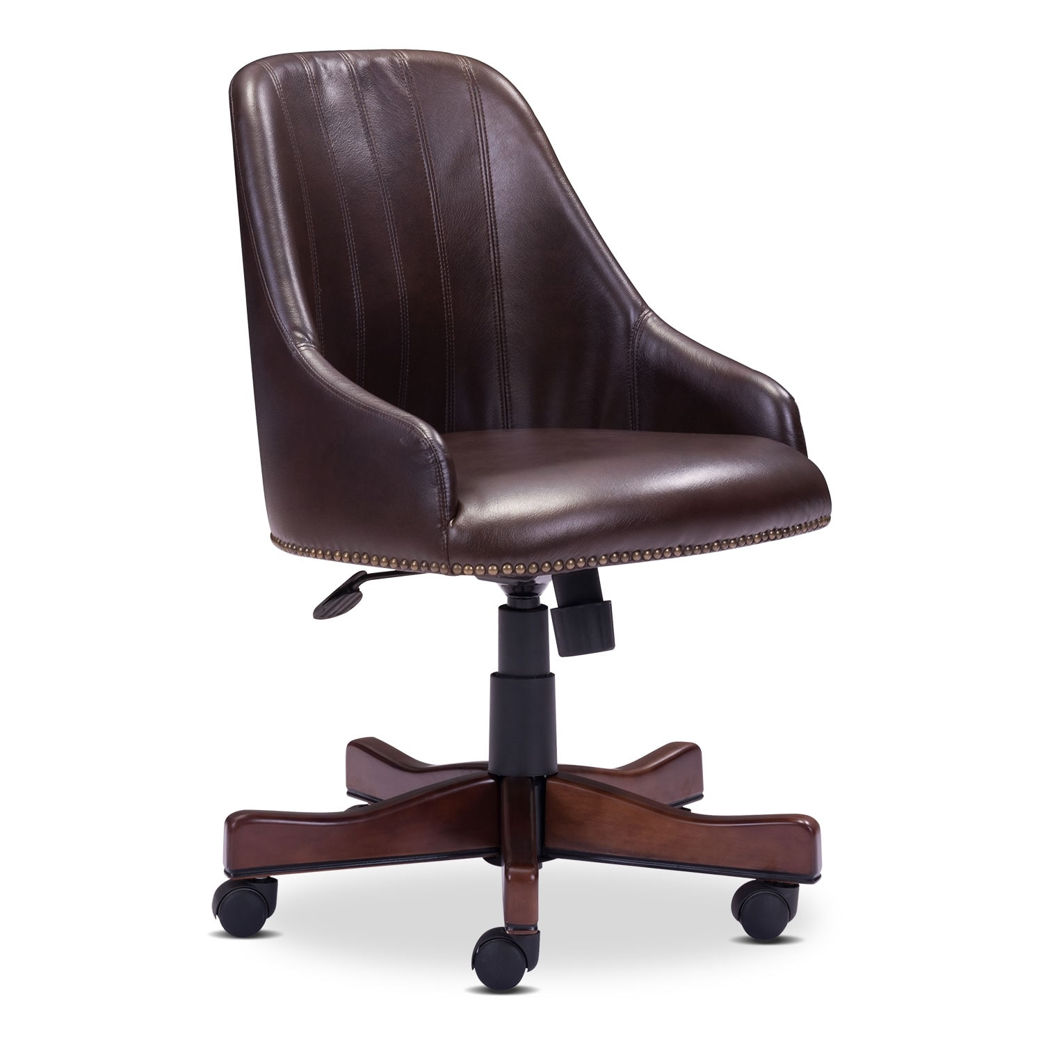 Home Office Furniture - Saddle Office Arm Chair - Brown