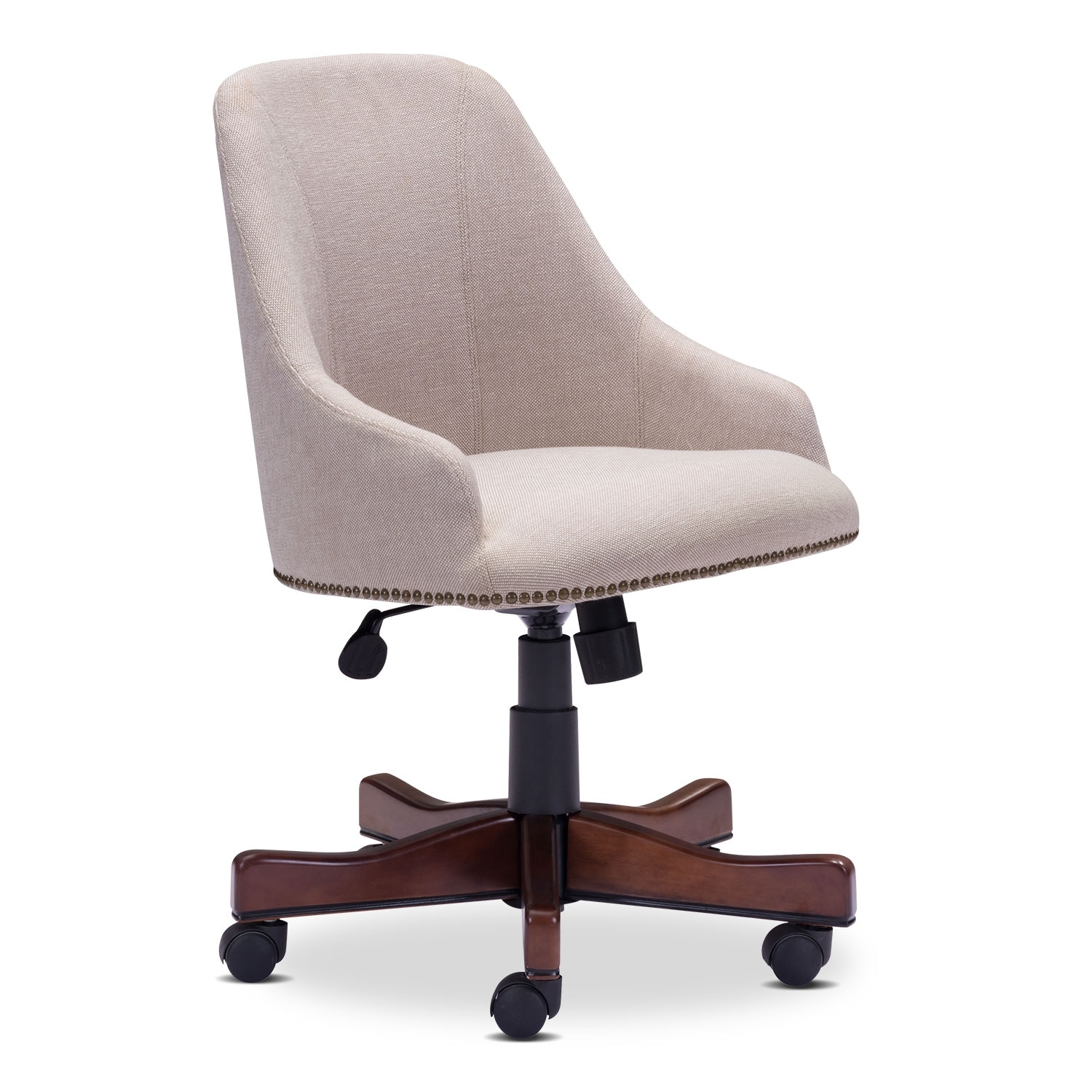 Saddle Office Arm Chair Beige American Signature Furniture