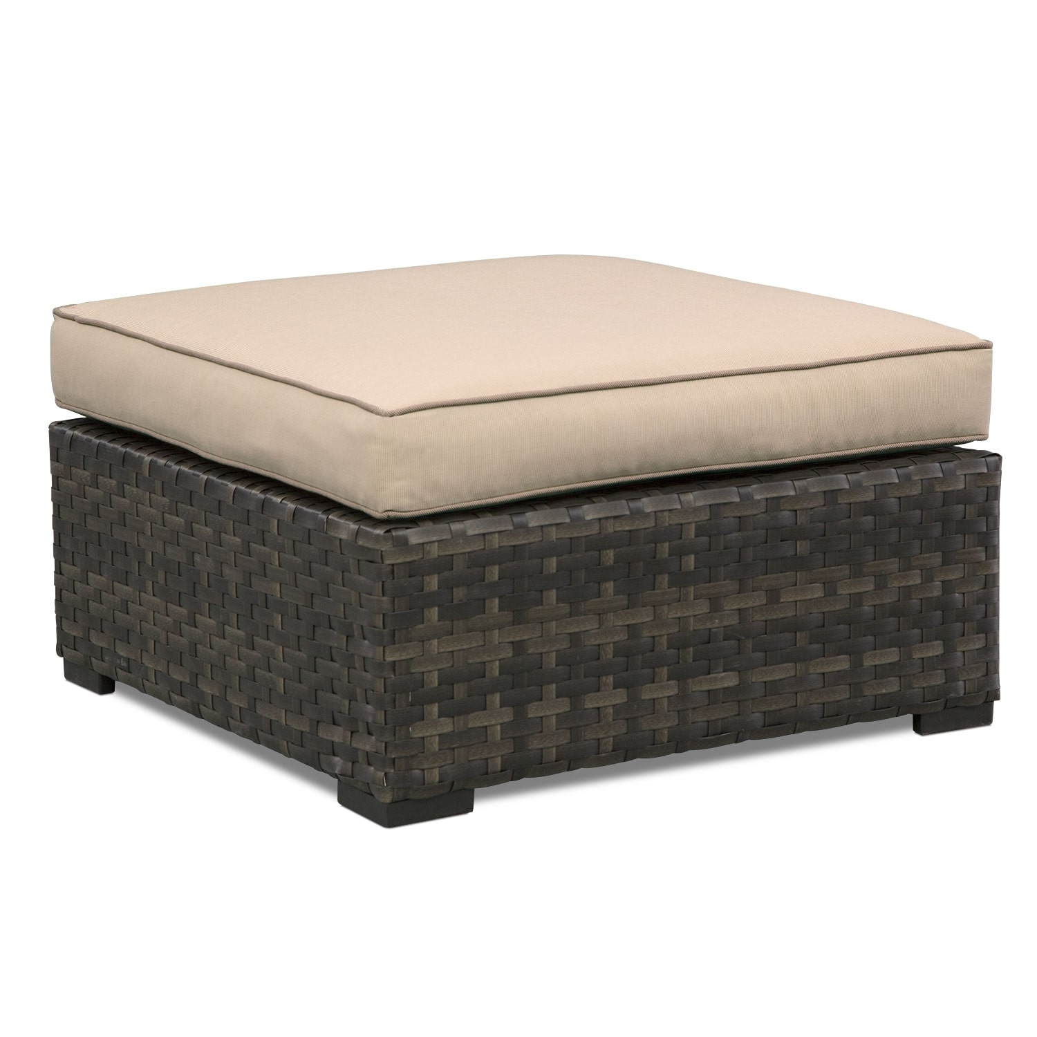 Outdoor Furniture - Regatta Outdoor Ottoman - Brown