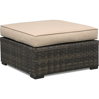 Regatta Outdoor Ottoman - Brown