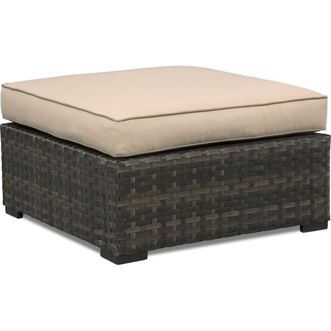 Outdoor Furniture - Regatta Outdoor Ottoman - Brown