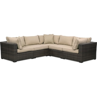 Regatta 5-Piece Outdoor Sectional - Brown