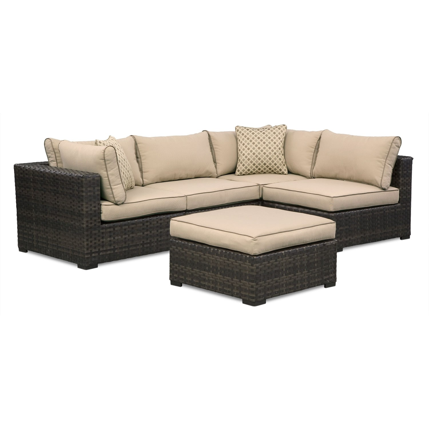 Regatta 4 Pc. Outdoor Sectional and Ottoman