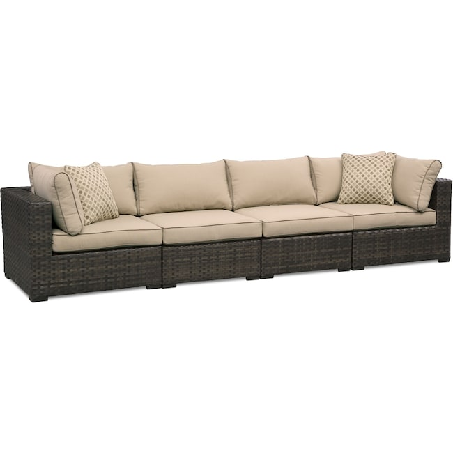 Outdoor Furniture - Regatta Outdoor Sofa - Brown