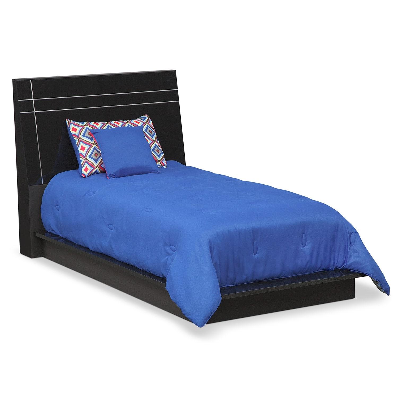 Dimora Piece Twin Panel Bedroom Set With Media Dresser Black - Media dresser for bedroom