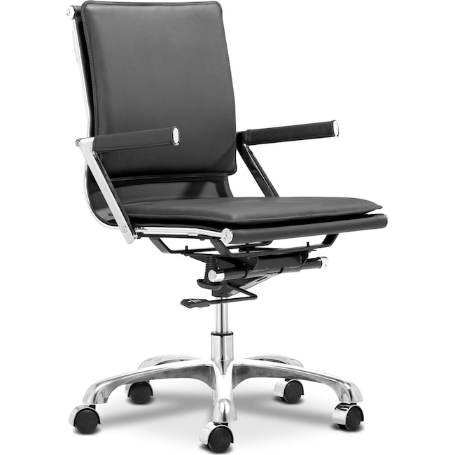 Home Office Furniture - Nelson Office Arm Chair - Black