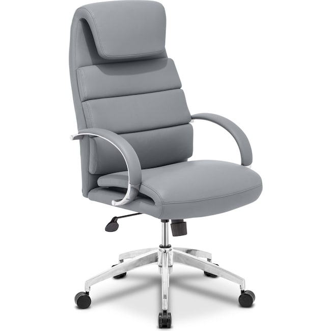 Home Office Furniture - Clemens Office Arm Chair - Gray
