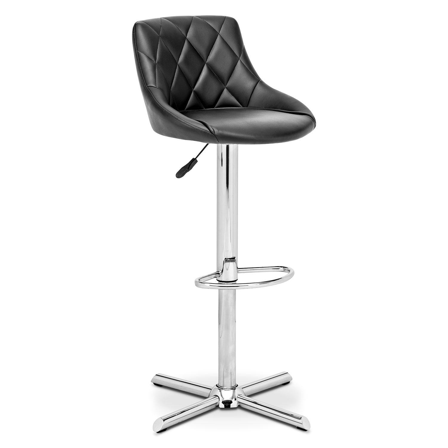 Dining Room Furniture - Caymen Adjustable Barstool - Chrome