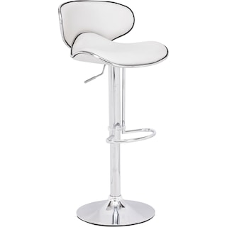 Connor Adjustable Bar Stool - White