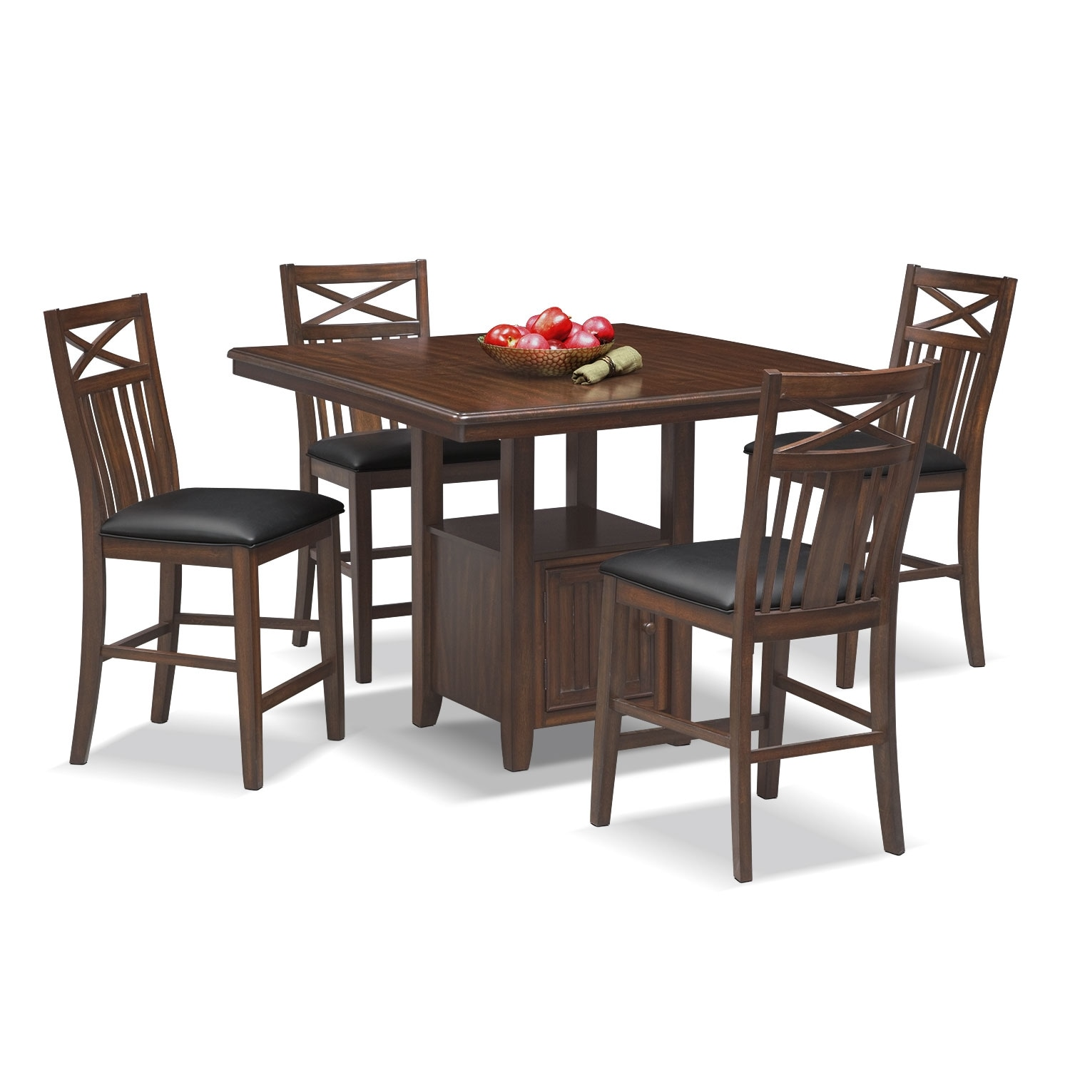Dining Room Furniture - Natchez Trail 5 Pc. Counter-Height Dining Room