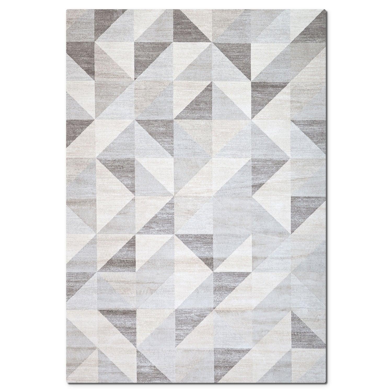 Rugs - Sonoma Area Rug - Gray Triangles
