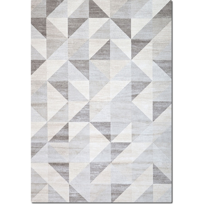 Rugs - Sonoma Area Rug - Gray Triangles