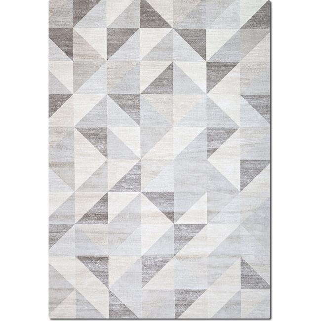 Rugs - Sonoma 5' x 8' Area Rug - Gray Triangles