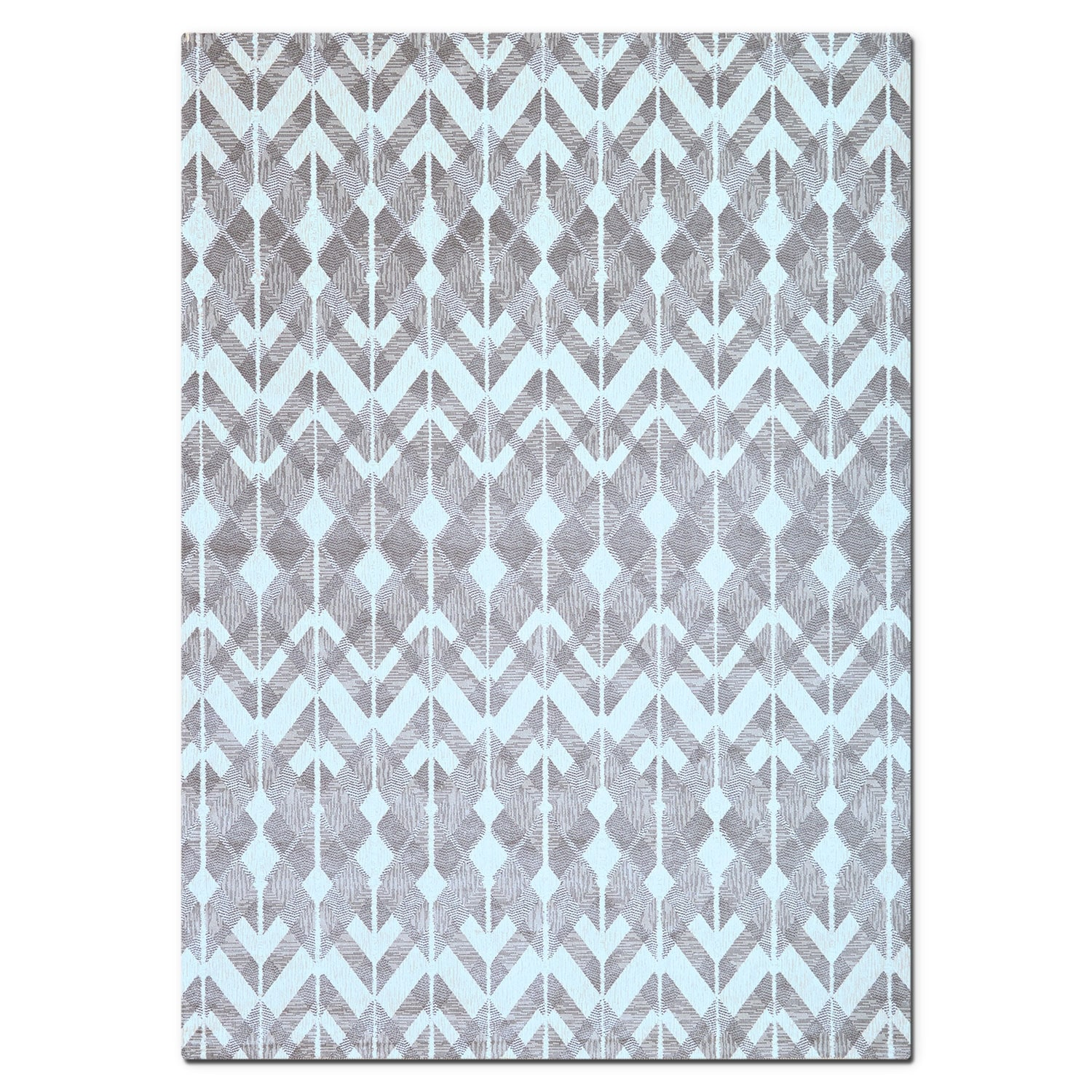 Rugs - Sonoma Gray Diamonds Area Rug (5' x 8')