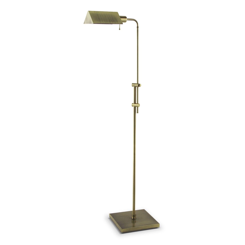 Home Accessories - Brass Readers Floor Lamp