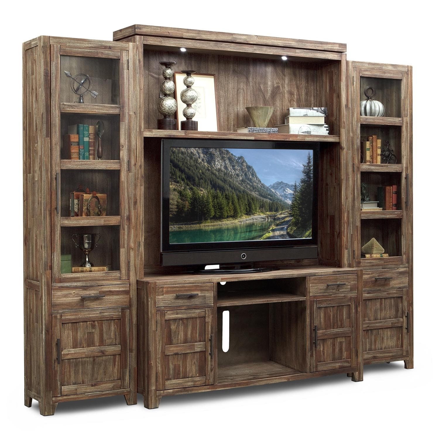 [Brentwood 4 Pc. Entertainment Wall Unit]