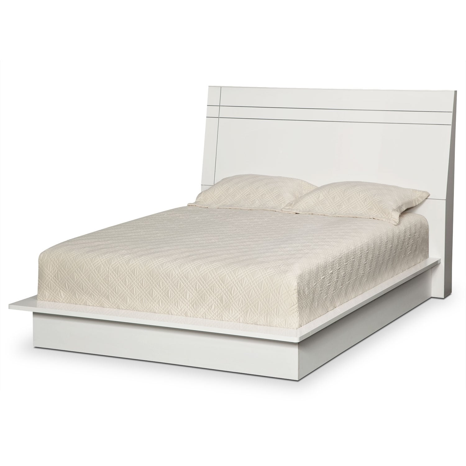 Zoom Room Bed Reviews Dimora Queen Panel Bed White American Signature Furniture
