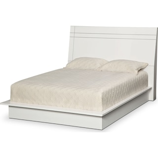 Dimora Queen Panel Bed - White