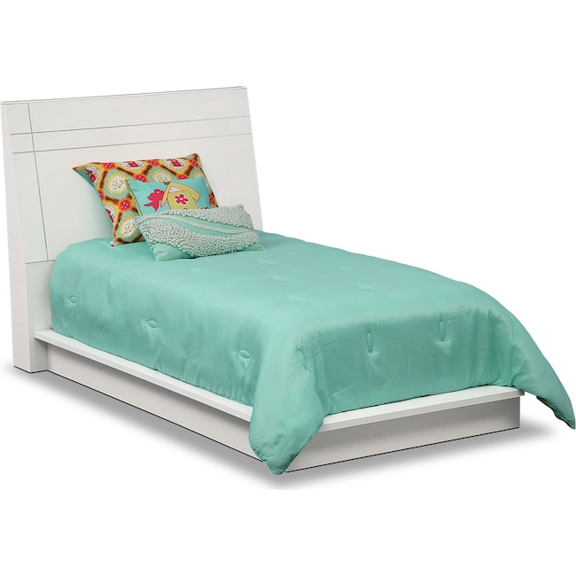 Bedroom Furniture - Dimora Twin Panel Bed - White