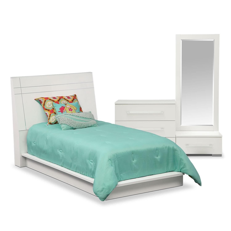 Bedroom Furniture - Dimora White II 5 Pc. Twin Bedroom (Alternate)