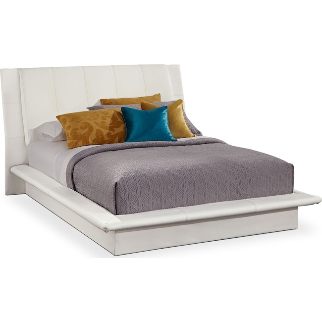 Bedroom Furniture - Dimora King Upholstered Bed - White