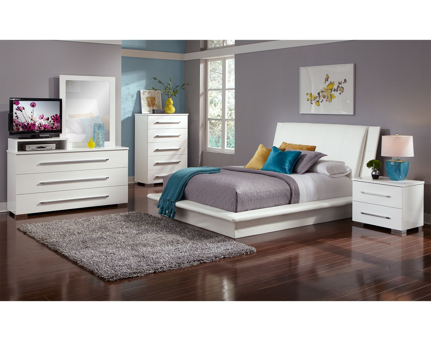 The Dimora Upholstered Collection White Best