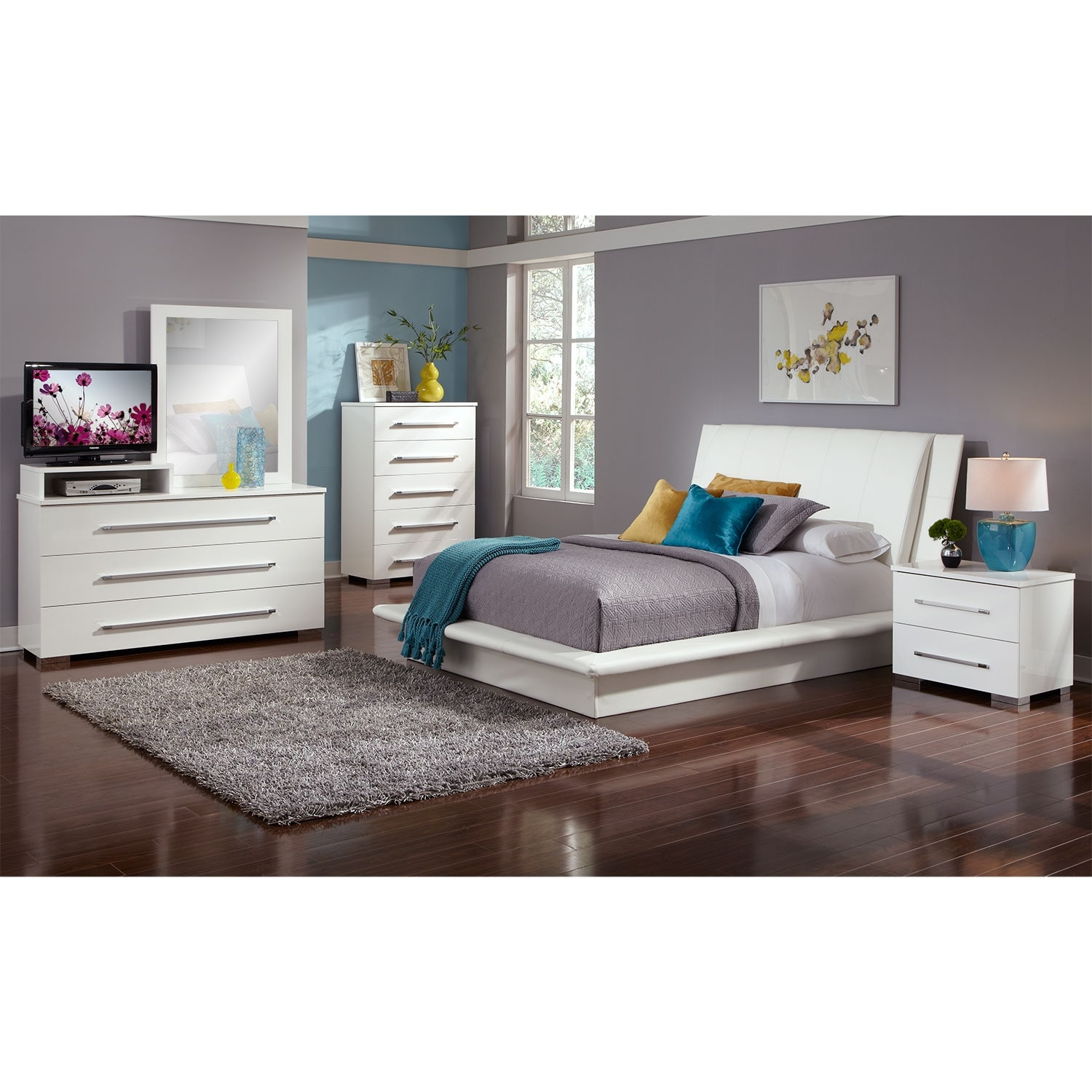 Outlet Bedroom Furniture White Leather Bedroom Set Luca Home White Leather Upholstered