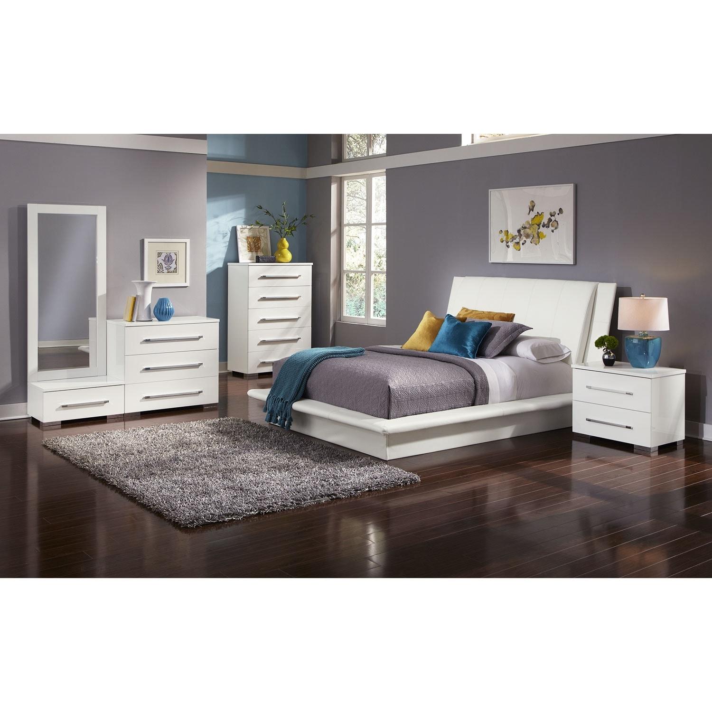 Bedroom Furniture - Dimora White 7 Pc. King Bedroom (Alternate)