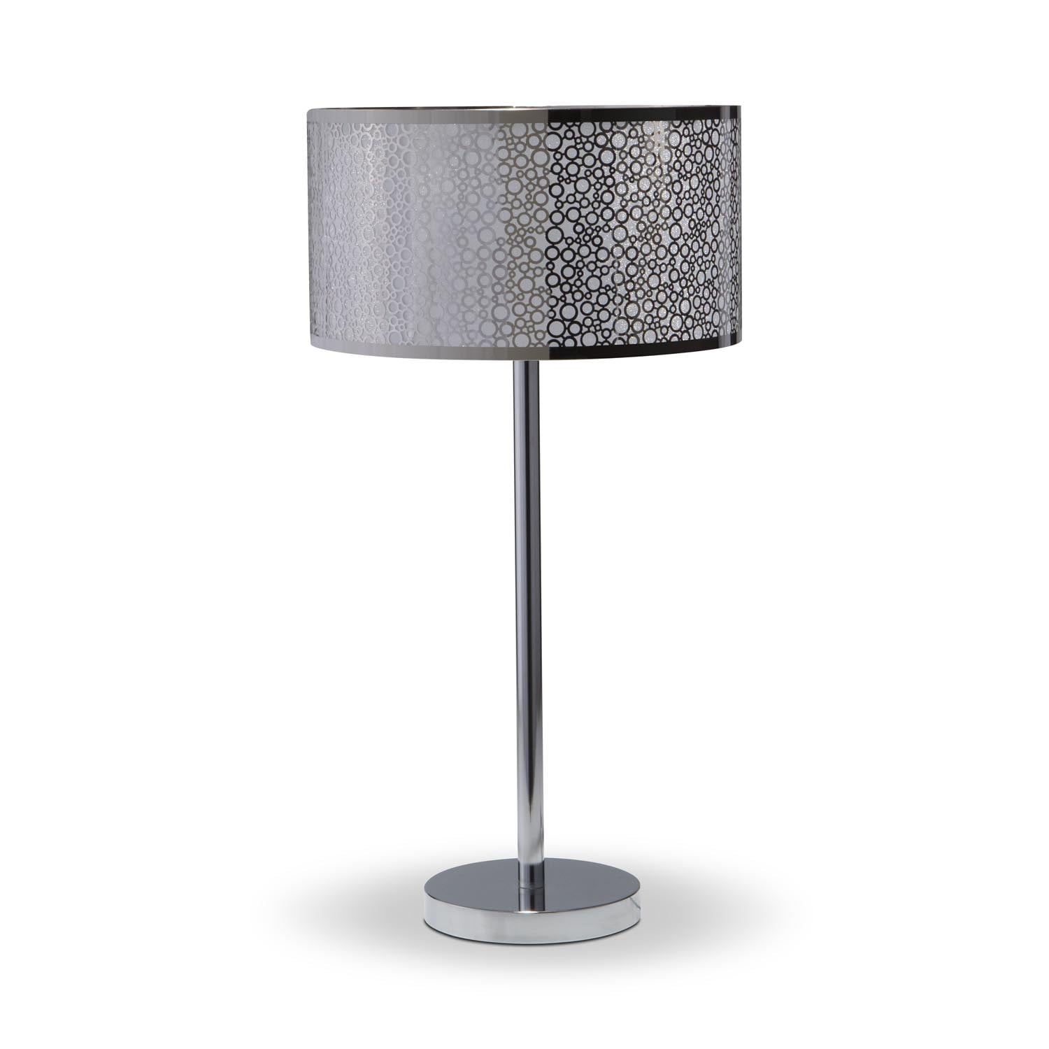 Home Accessories - Silver Circles Table Lamp