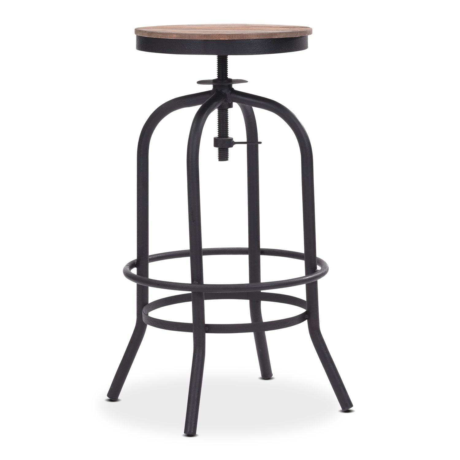 Elston Adjustable Backless Barstool - Antiqued Black