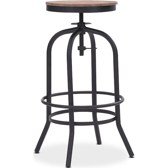 Dining Room Furniture - Elston Adjustable Backless Barstool - Antiqued Black
