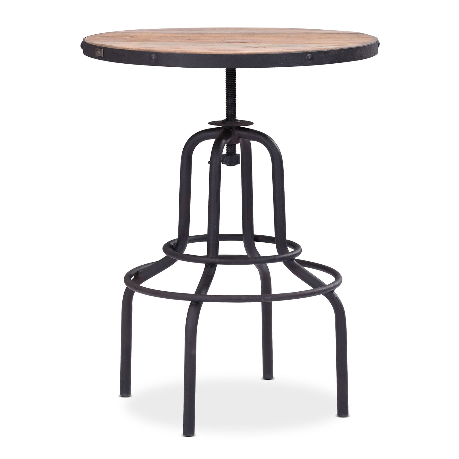 Elston Adjustable Table - Antiqued Black