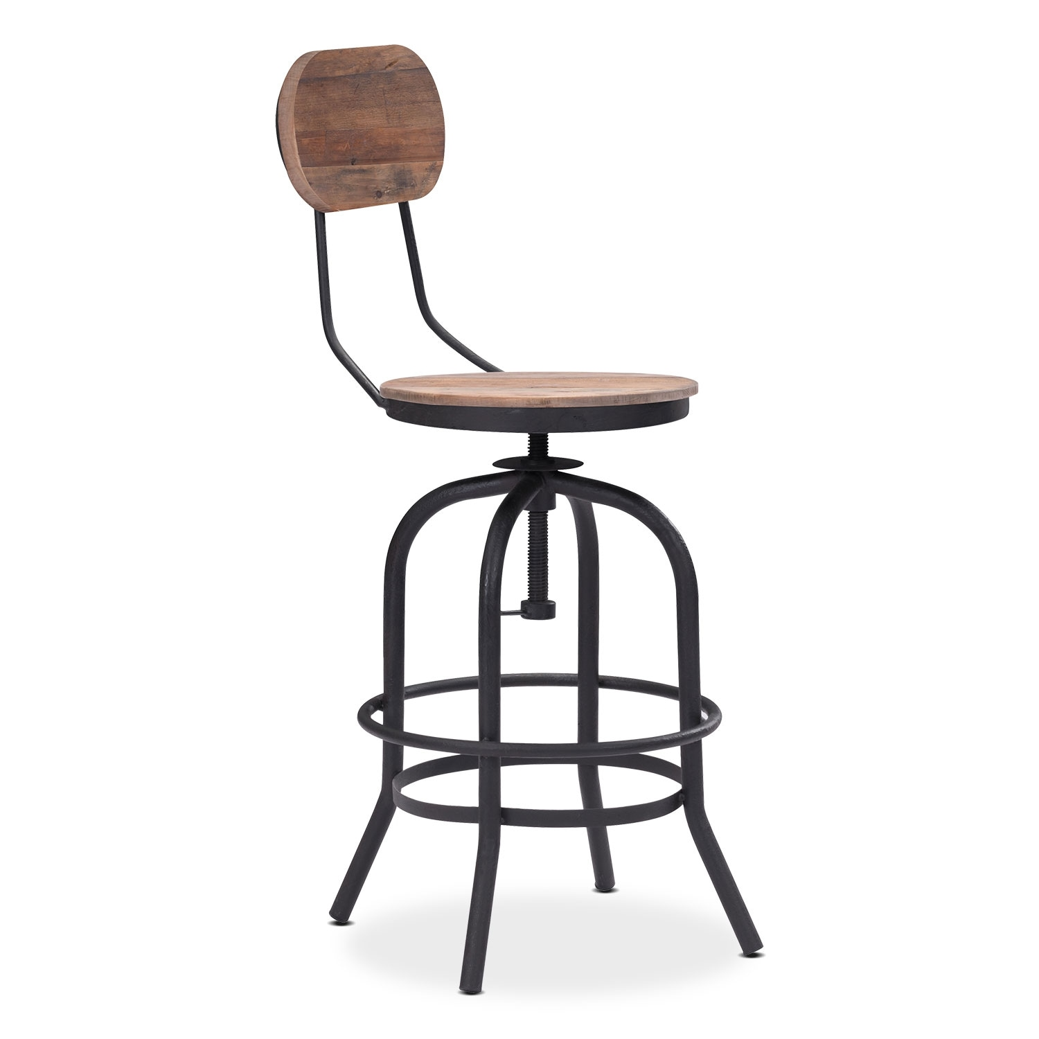 Elston Adjustable Counter-Height Stool - Antiqued Black