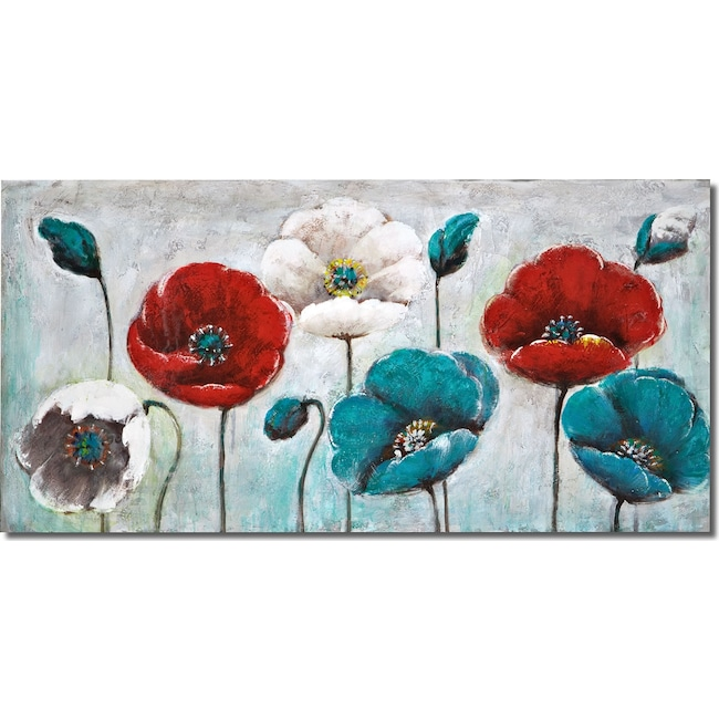 Home Accessories - Blue Poppy Canvas Print
