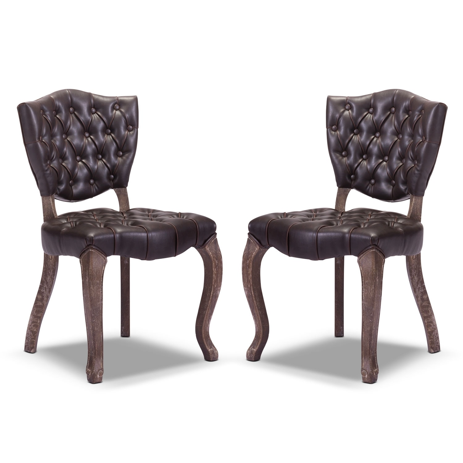 Shield 2-Pack Chairs - Brown