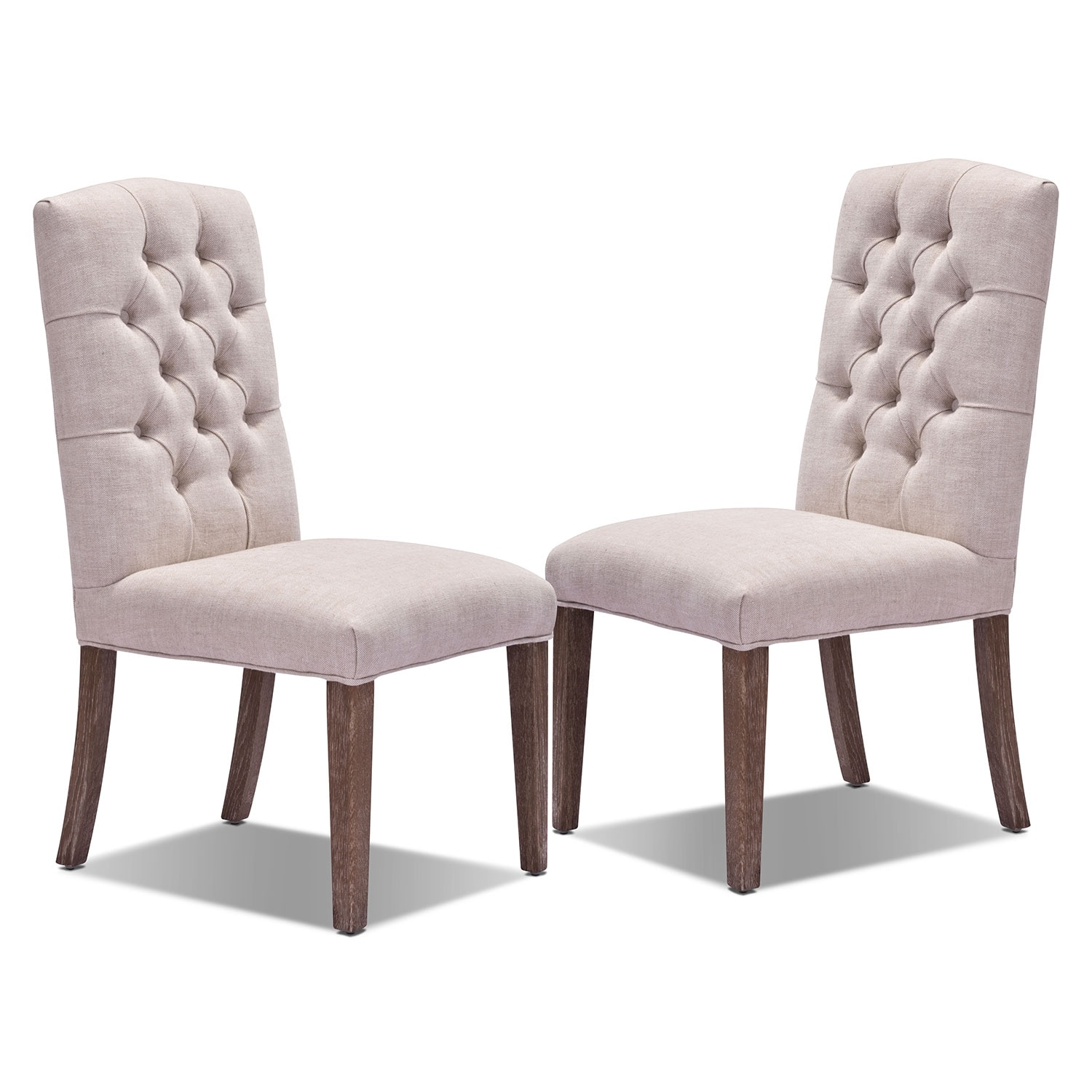 Dining Room Furniture - Dakota 2-Pack Chairs - Light Beige