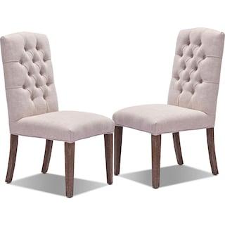 Dakota 2-Pack Chairs - Light Beige