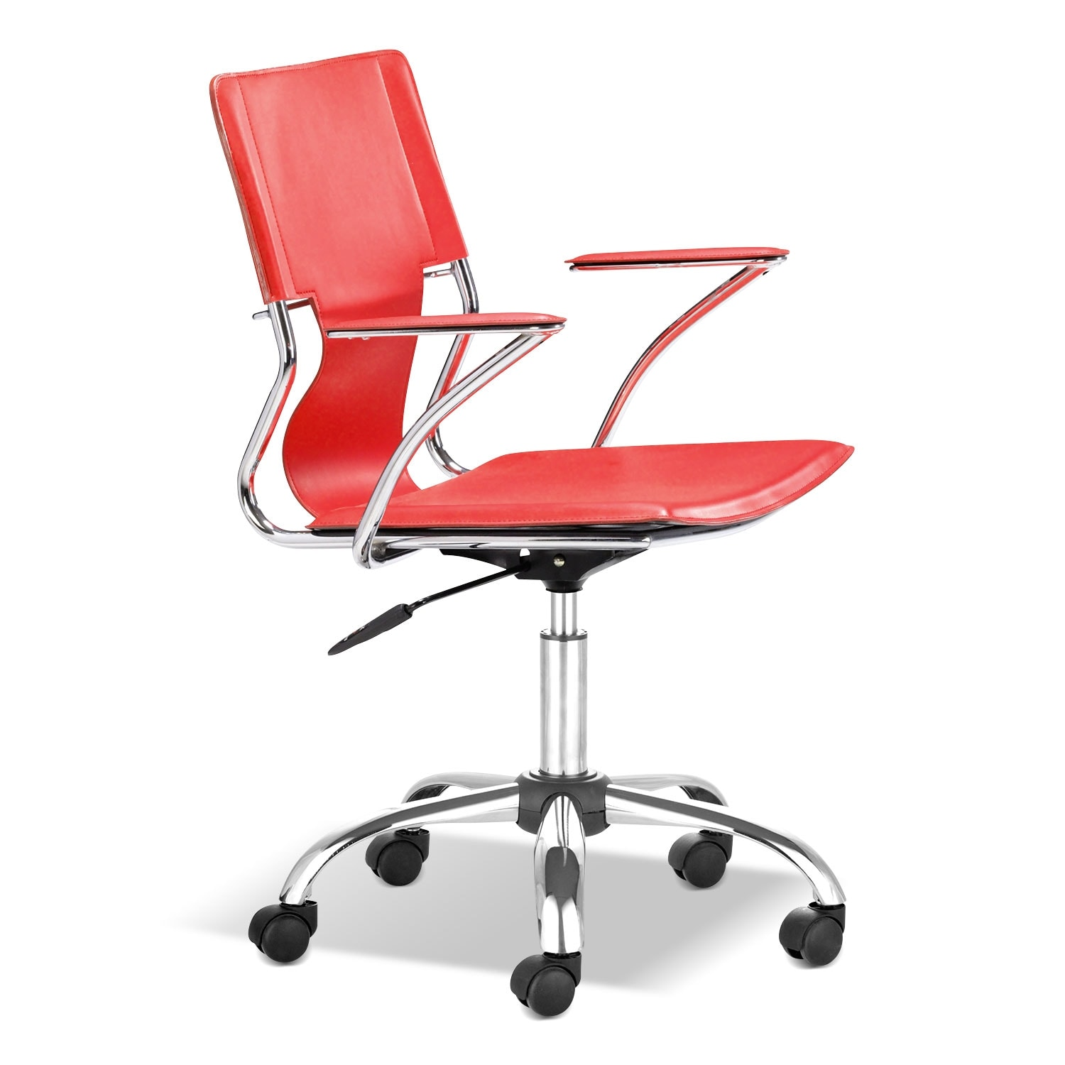 Home Office Furniture - Crowley Office Arm Chair - Red