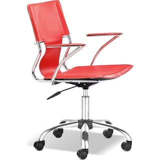 Crowley Office Arm Chair - Red
