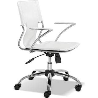 Crowley Office Arm Chair - White