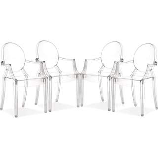 Lucid 4-Pack Arm Chairs - Clear
