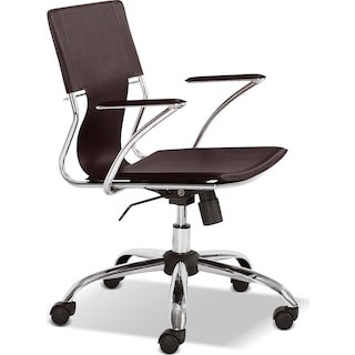 Crowley Office Arm Chair - Brown