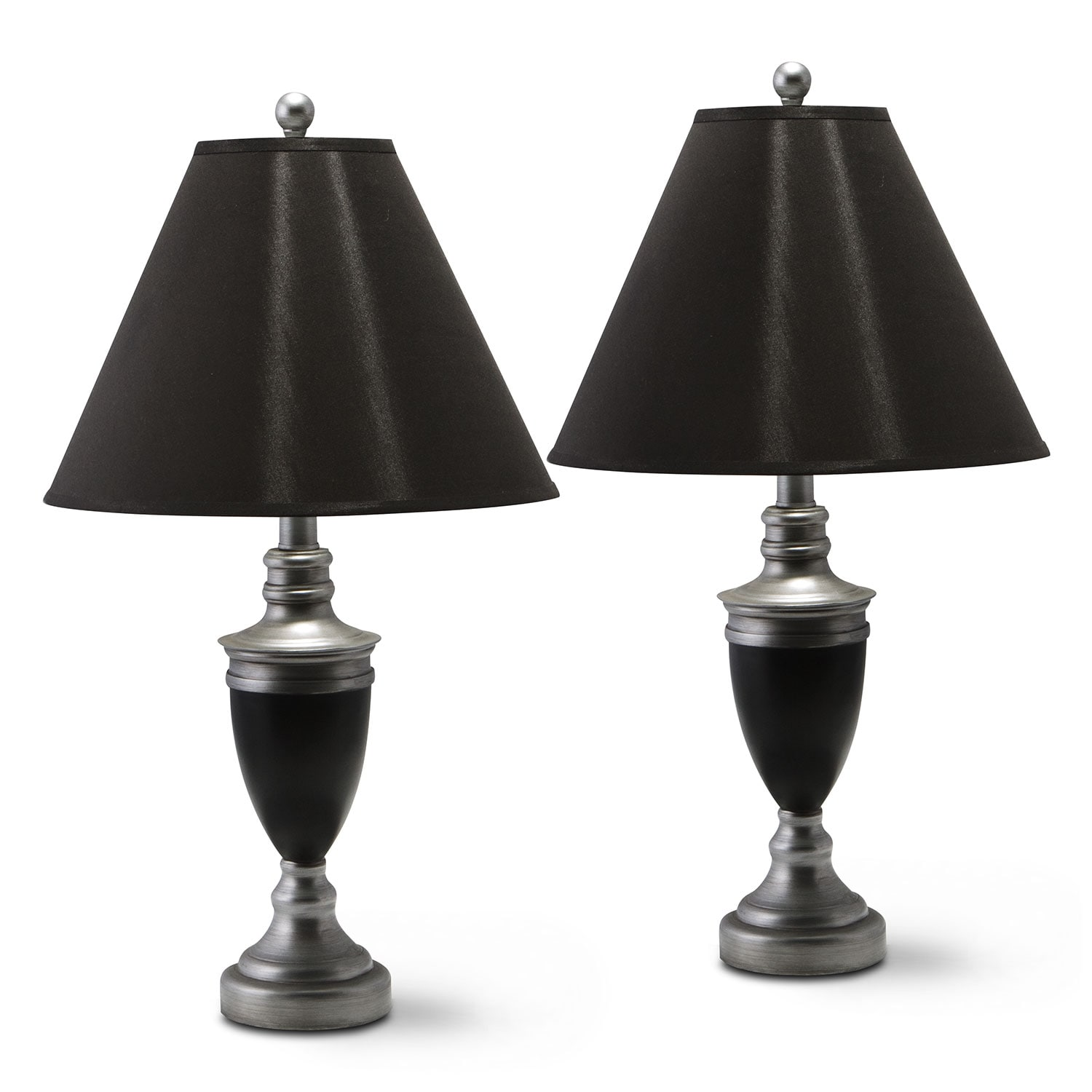 Nickel 2-Pack Table Lamp Set