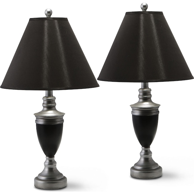 Home Accessories - Nickel 2-Pack Table Lamp Set
