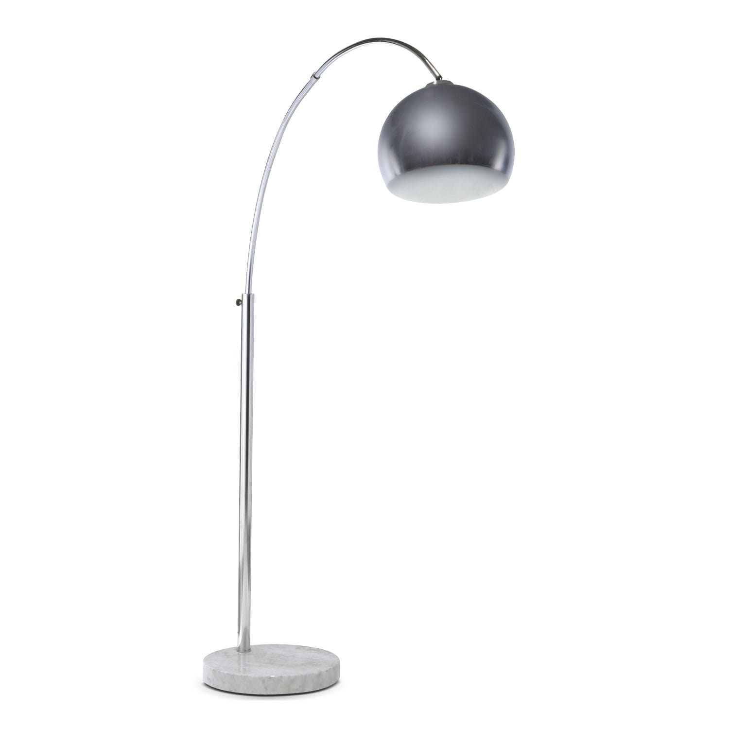 Silver Bowl Arc Floor Lamp