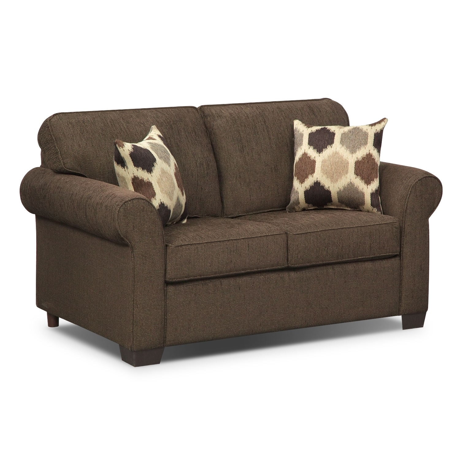 Living Room Furniture - Fletcher II Twin Memory Foam Sleeper Sofa