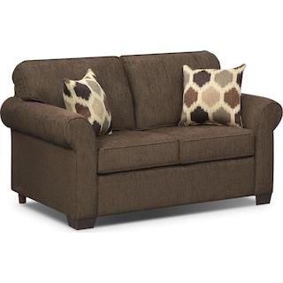 Fletcher Twin Innerspring Sleeper Sofa - Chocolate